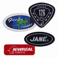 Quality Woven Badges/Labels, Customized Shapes, Sizes and Designs are Accepted for sale