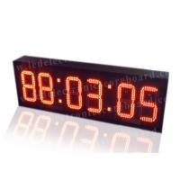 Quality Super Brightness Red Digital Clock , Digital Time Clock For Train Station for sale