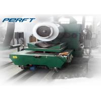 China Heavy Duty hydraulic lifting Electric Rail Coil Transfer Trolley for factory Aluminum Steel Pipe and coils transport on sale
