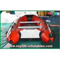 Quality 0.9mm PVC Inflatable Boats Aluminium Alloy Floor 4-6 Person Canoeing Kayak for sale