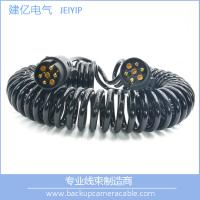 Quality High Quality Black 7 Pin Spiral Cable Extension Trailer electric coil Cable for sale
