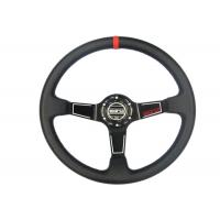 Quality Easy Control Red Race Car Steering Wheel Increase Driving Comfort And Grip for sale