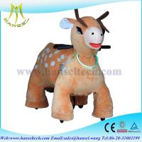 Quality Hansel juguetes montables electricos stuffed ride motorized animals for sale