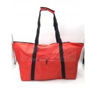 Quality Water Resistant Reusable Folding Shopping Bags Red Color For Travel for sale