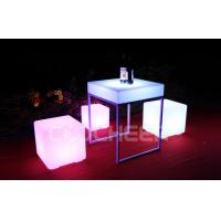 Quality Classic PE Plastic Rechargeable Led Cube Stool Chair Glowing Furniture for sale