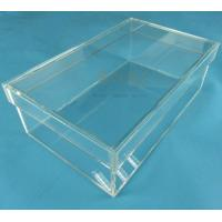 Buy Rectangular Clear Acrylic Shoe Display Box Transparent Eyes Catching at wholesale prices