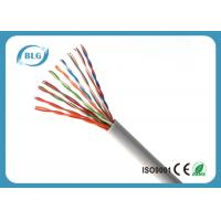 China Indoor Telephone Cable Wire , 2 ~ 100 Pairs UTP Cat 3 Cable With Copper Material on sale