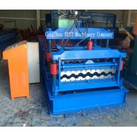 Quality Corrugated Roof Tile Roll Forming Machine PPGI/GI Material PLC Control for sale