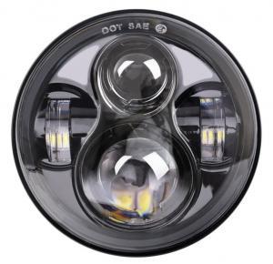 "Quality Energy Saving 80 W Round Jeep Wrangler Jk Led Headlights , 7"" Moto Led Projector Headlamps for sale"
