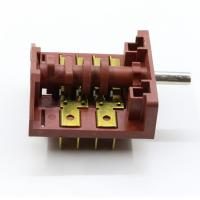 Quality Copper Terminal Mini Rotary Switch , 4 Pole 3 Position Dishwasher Switch for sale