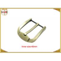 Quality Fashion Gold Zinc Alloy Pin Belt Buckle For Man / Boy 40mm Customized for sale