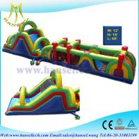 Quality Hansel newest design adventure run obstacle courses inflatable playland for kids play for sale