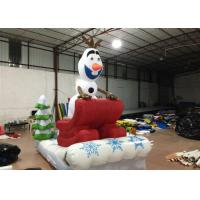 Quality Outdoor Blow Up Christmas Decorations , Commercial Activities Merry Christmas Inflatable for sale