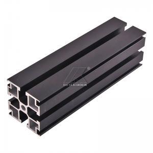 Quality Aluminum T-slot extrusion aluminum profile black 6000 series T5 anodized for sale