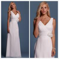 Quality Sheath Chiffon Beach wedding dress Bridal gown#6468 for sale