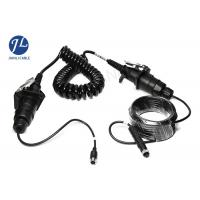 Quality Waterproof Curly Spiral Power Cord 7 Pole For Video Audio Power Signal Transmission for sale