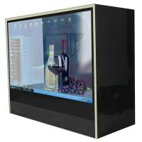 China Museum 21.5 Stand Alone HD Transparent LCD Display Box / Touch Screen Kiosk on sale