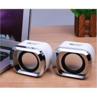 Plating Shell Wireless Bookshelf Speakers Dual Channel With Stereo Jack / USB Power Plug for sale
