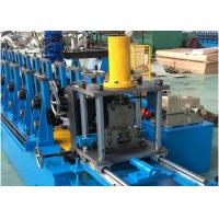 Quality Steel Unistrut Solar Rack C Channel Roll Forming Machine Chain / Gear Box Driven System for sale