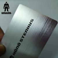 Quality Personalized Printable Aluminium Business Cards , Blank Dj Business Cards for sale