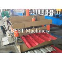 Quality Color Steel Glazed Tile Making Machine PLC Control 4-6m/Min Speed for sale