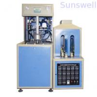 Quality 380V / 14KW Semi-Automatic Bottle Blow Molding Machine to make PET bottles for edible oil for sale