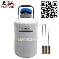 TIANCHI Liquid Nitrogen Canister 6L Cryogenic Container Price for sale