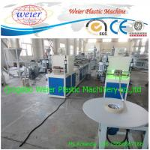China Veneer Polywood Pvc Edge Banding Making Machine With Printing Machines on sale