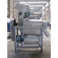 Quality Stainless steel garlic/fruits screw juice press machine with crusher function for sale