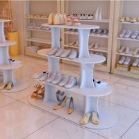 Quality Hot Sale Shoes Store Metal Or Wood Standing Display Stand For Shoes for sale