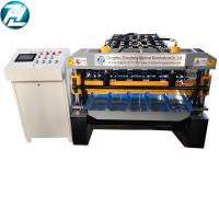 Buy cheap high speed Trapezoidal roofing sheet roll forming machine with motor cutting from wholesalers