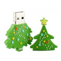 Quality Customized USB Flash Drive, Christmas Tree USB 2.0 Memory Stick Storage Device for sale