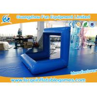 Quality Blue Factory Air Sealed Inflatable Football Polo Goal Sport Game Inflatable Soccer Goal Post for sale