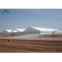 China Large Rainproof Clear Span Buildings  For Temporary Warehouse , ABS Side Wall on sale