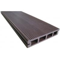 Quality Waterproof Redwood / Brown Hollow Composite Decking With Wood Grain Finish for sale