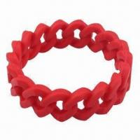Quality Silicone Bracelet/Wristband, Eco-friendly Material, Customized Colors and Sizes Welcomed for sale