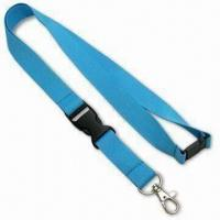 Quality 2cm Eco-friendly Lanyard, Made of 100% Recycled PET Material, with Plastic Safety Lock for sale