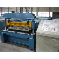 1219mm Width Metal Deck Roll Forming Machine / Cold Steel Roll Forming Machinery