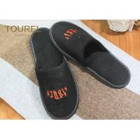 Quality Polyester Velour Hotel Disposable Slippers For Guests , Cut Velvet Luxury for sale