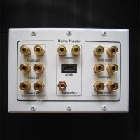 China Home Theater Speaker Wall Panel Socket HDMI Subwoofer Speaker Connector White Color for sale