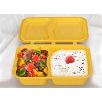 China 1000ml 2-compartment takeaway trays plastic food trays injection molding creative bento boxes with cover linked on sale