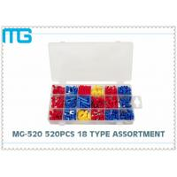 Quality MG - 520 18 Types Terminal Assortment Kit SV BV Red Blue Yellow 520 pcs OEM / DEM for sale