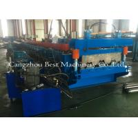 Quality 0.8-1.5mm Galvanized Metal Deck Sheet Roll Forming Machine For Roof Building for sale