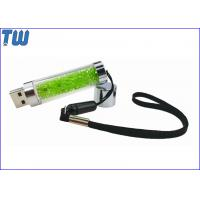 Buy cheap Long Stick Transparent Rhinestone 1GB USB Flash Pen Drive Free Lanyard from wholesalers