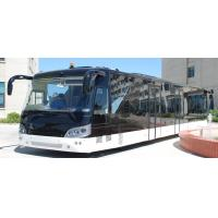 China 14M length 3m width luxury airport shuttles 110 passenger standing area on sale