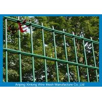 Quality Acid - Resistant Double Wire Fence / Pool Security Fence Galvanized PVC Coated for sale