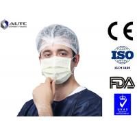 Quality 3 Ply Blu Medical Face Mask Prevent Dust Blue White For Cough Germs Illness for sale