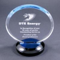 Quality Clear Round Acrylic Award Trophy With Laser Engraving Logo For Gift for sale