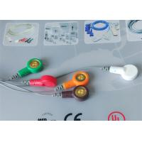 Buy Snap Electrode Ecg Accessories Holter Cable 5 Leads For Patient Use at wholesale prices