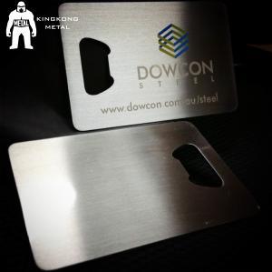 Quality Metal Beer Bottle Opener Business Card ,  Poker Card Bottle Opener  Promotional for sale